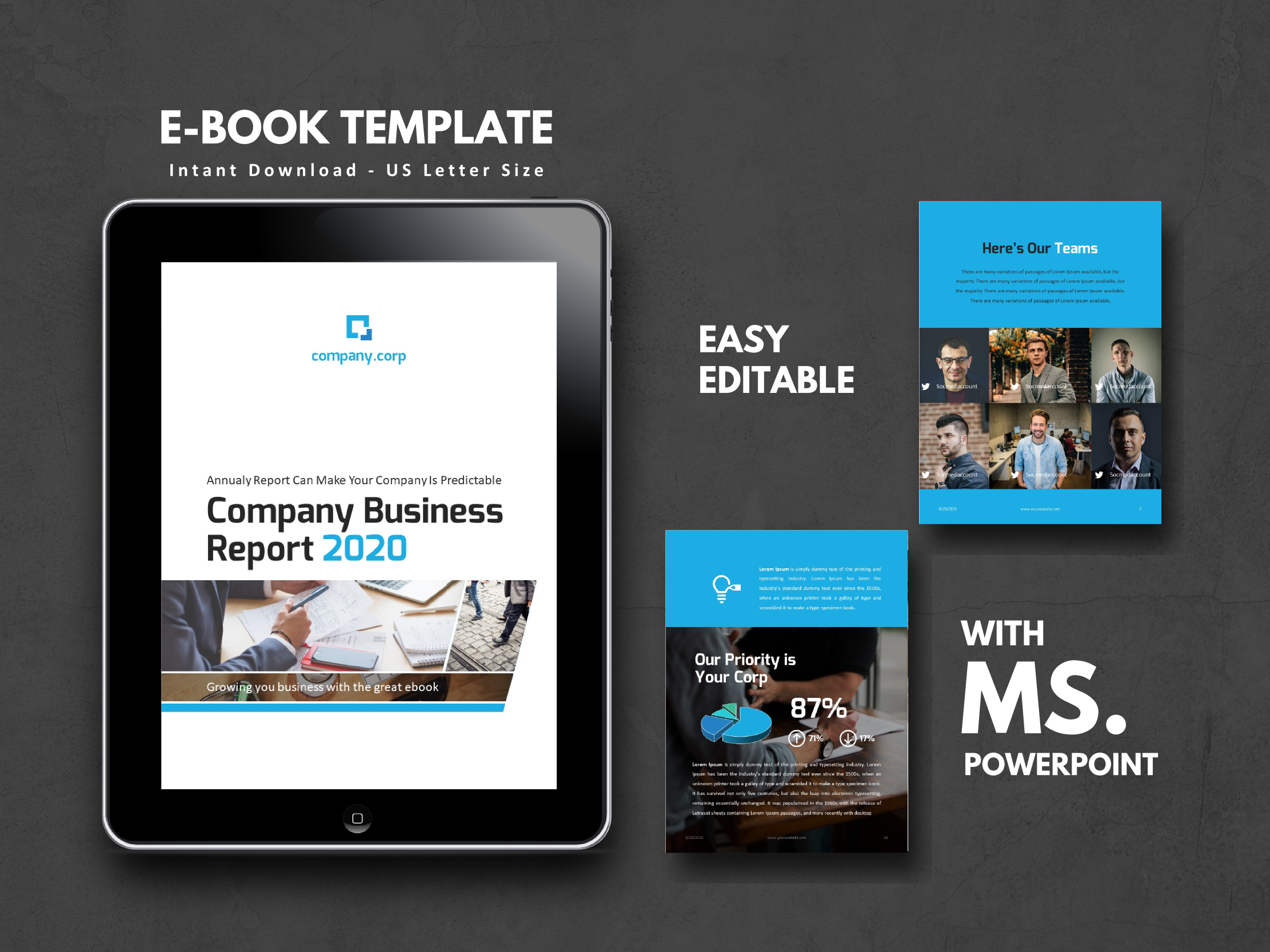 Download Free Business Report 2020 Ebook Corporate Graphic By Rivatxfz for Cricut Explore, Silhouette and other cutting machines.