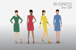 Business Women Outfits 2 Graphic By faldy.kudo