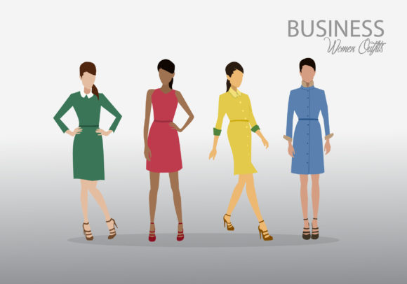 Print on Demand: Business Women Outfits 2 Graphic Illustrations By kudocreative
