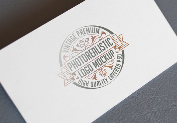 Print on Demand: Business Card Template Mockup on Textile Graphic Product Mockups By bywahtung - Image 1