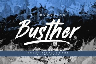 Print on Demand: Busther Display Font By putracetol