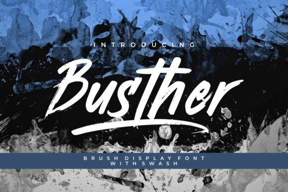 Busther Display Font By putracetol