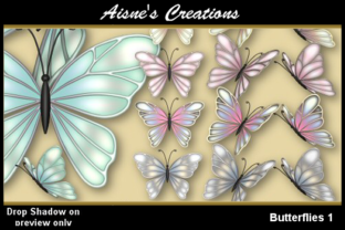 Print on Demand: Butterflies 1 Graphic Objects By Aisne