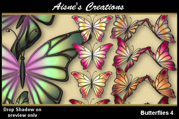 Print on Demand: Butterflies 4 Graphic Objects By Aisne