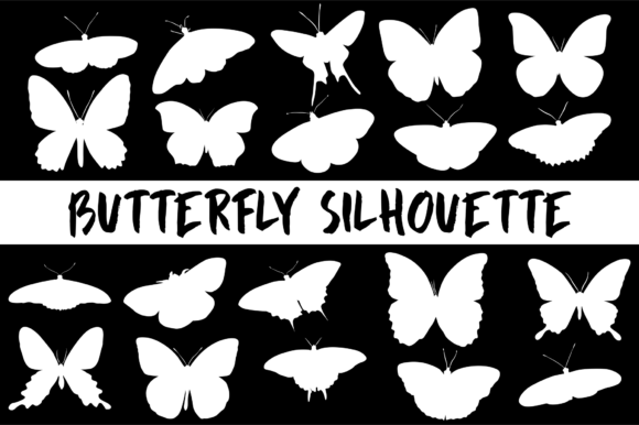 Butterfly Sihouette Graphic By geadesign