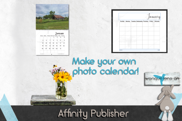 Download Free Calendar Template For Affinity Publisher Graphic By Tranquil for Cricut Explore, Silhouette and other cutting machines.