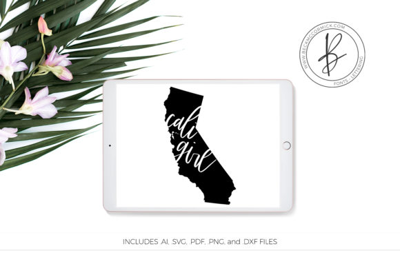 Download Free Cali Girl Graphic By Beckmccormick Creative Fabrica for Cricut Explore, Silhouette and other cutting machines.