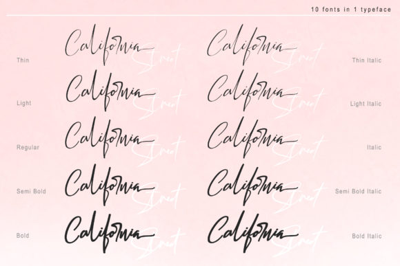 Print on Demand: California Street Script & Handwritten Font By thomasaradea - Image 12