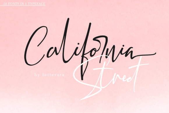 Print on Demand: California Street Script & Handwritten Font By thomasaradea