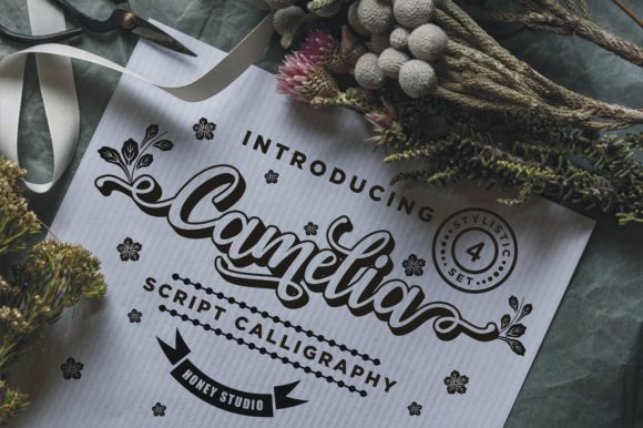 Print on Demand: Camelia Script & Handwritten Font By mukhlas.pemain