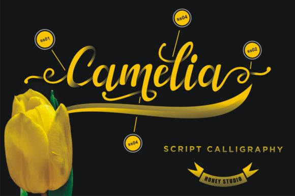Print on Demand: Camelia Script & Handwritten Font By mukhlas.pemain - Image 2