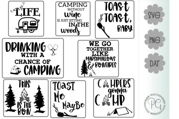 Download Free Camping Bundle Camper Graphic By Prospering Gifts Creative Fabrica for Cricut Explore, Silhouette and other cutting machines.