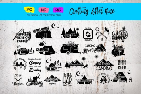 Print on Demand: Camping Bundle Graphic Crafts By Crafting After Nine