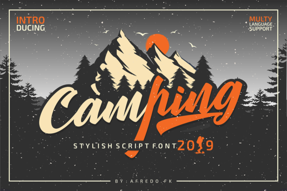 Print on Demand: Camping Script & Handwritten Font By afredo.fk
