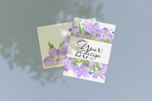 Print on Demand: Card Mockup 5x7 with Leaves Shadow Graphic Product Mockups By Natalia Arkusha