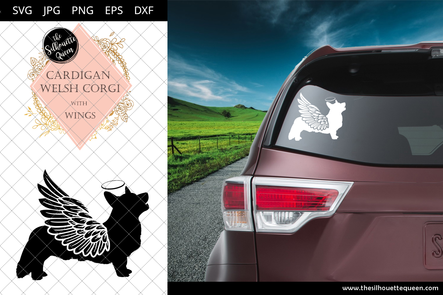 Download Free Cardigan Welsh Corgi 9 With Wings Graphic By for Cricut Explore, Silhouette and other cutting machines.