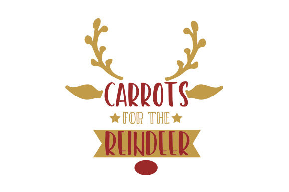 Download Free Carrots For The Reindeer Svg Cut File By Creative Fabrica Crafts for Cricut Explore, Silhouette and other cutting machines.