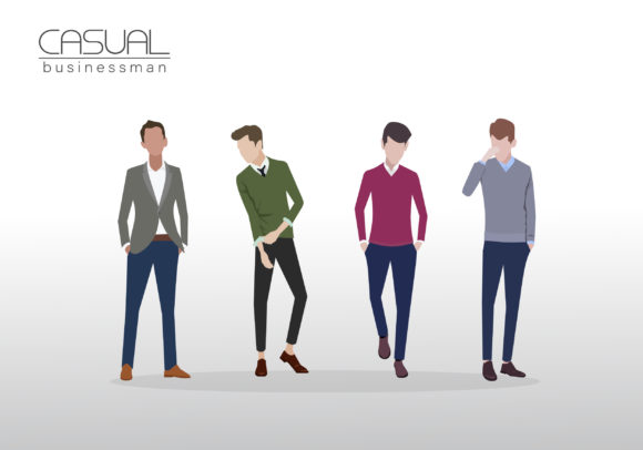 Print on Demand: Casual Businessman 2 Graphic Illustrations By kudocreative