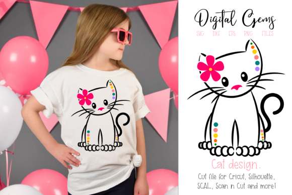 Cat Design Graphic Crafts By Digital Gems