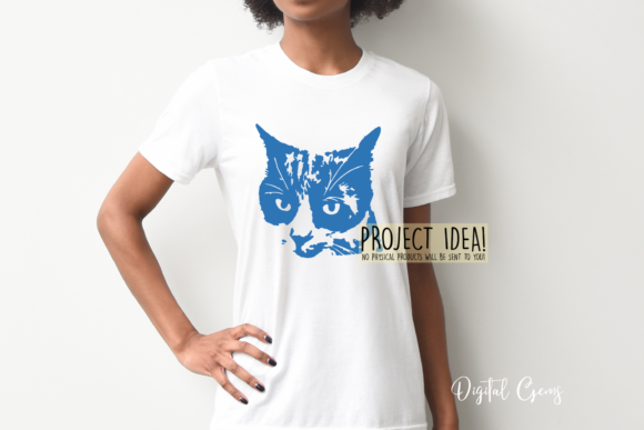 Cat Face Design Graphic By Digital Gems Creative Fabrica