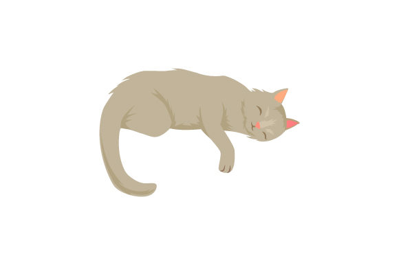 Cat Laying on Down with Paw Hanging Down Gatos Archivo de Corte Craft Por Creative Fabrica Crafts