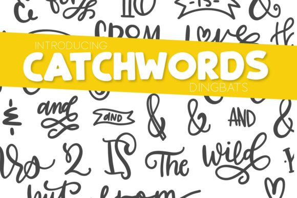 Catchwords Dingbats Font By Justina Tracy