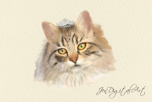 Cats 20 Assorted Illustrations Graphic By Jen Digital Art Image 6