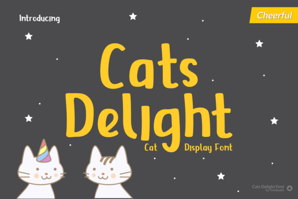 Print on Demand: Cats Delight Display Font By Trim Studio