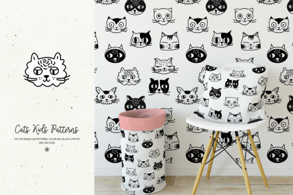 Cats Kids Patterns Graphic By webvilla Image 2