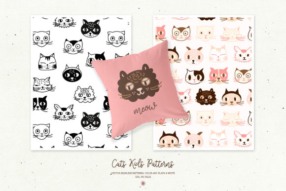 Cats Kids Patterns Graphic By webvilla Image 3