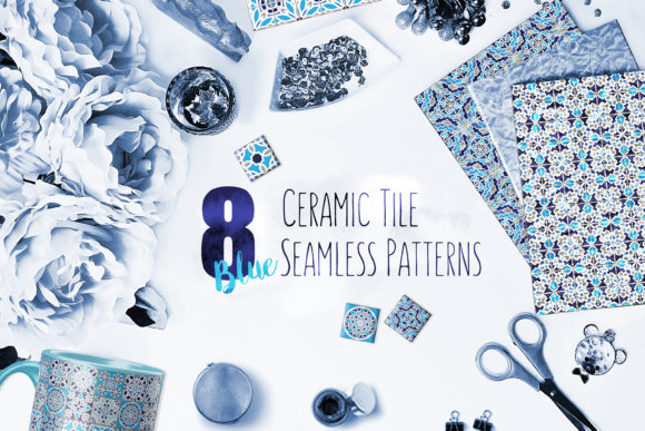 Download Free Ceramic Tile Seamless Patterns Graphic By Polina Makhalova for Cricut Explore, Silhouette and other cutting machines.