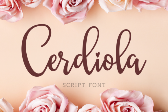 Print on Demand: Cerdiola Script & Handwritten Font By Keithzo (7NTypes) - Image 1