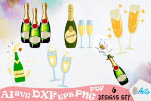 Download Free Champagne Bottles Stock Vector Designs Graphic By Digitemb for Cricut Explore, Silhouette and other cutting machines.