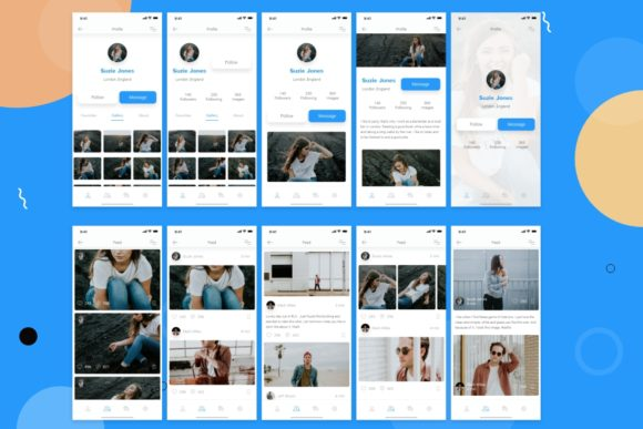Download Free Chatty Mobile Ui Kit Graphic By Web Donut Creative Fabrica for Cricut Explore, Silhouette and other cutting machines.