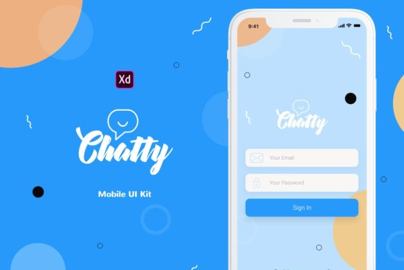 Chatty Mobile UI Kit Graphic UX and UI Kits By Web Donut