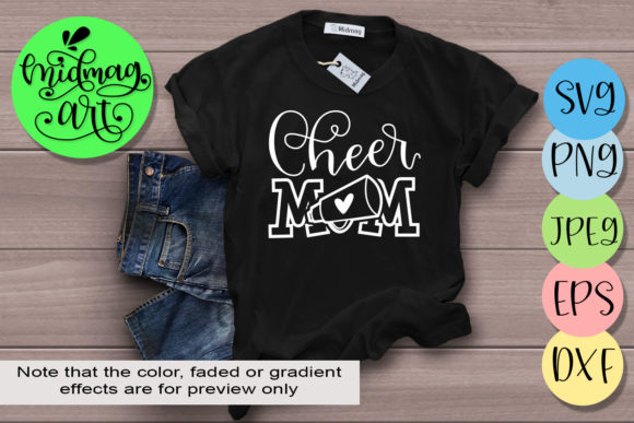 Download Free Cheer Mom Graphic By Midmagart Creative Fabrica for Cricut Explore, Silhouette and other cutting machines.