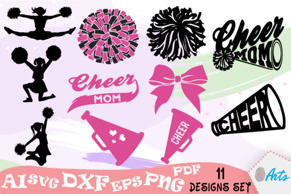 Download Free Cheerleading Graphic By Digitemb Creative Fabrica for Cricut Explore, Silhouette and other cutting machines.