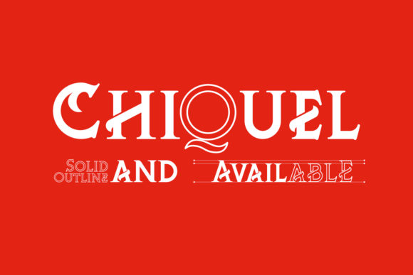 Print on Demand: ChiQuel Serif Font By 38.lineart