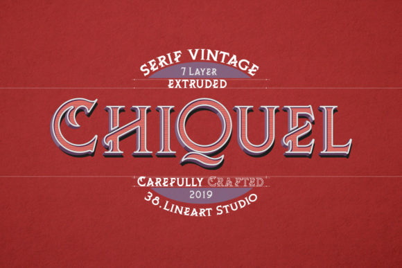 Print on Demand: ChiQuel Serif Vintage Serif Font By 38.lineart