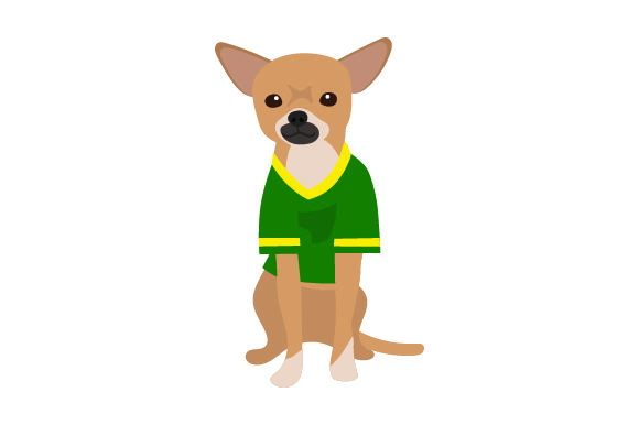 Chihuahua in American Football Jersey Craft Design By Creative Fabrica Crafts