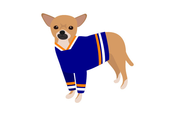 Chihuahua in Hockey Jersey Dogs Craft Cut File By Creative Fabrica Crafts - Image 1