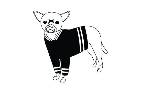 Chihuahua in Hockey Jersey Dogs Craft Cut File By Creative Fabrica Crafts - Image 2