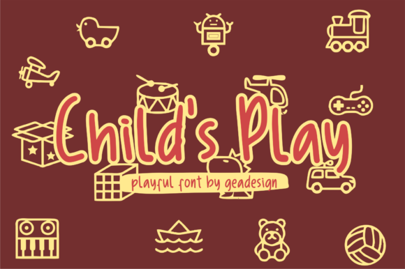 Child's Play Font By geadesign Image 1