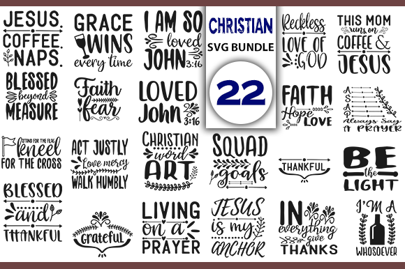 Download Free Christian Bundle Graphic By Creativeart Creative Fabrica for Cricut Explore, Silhouette and other cutting machines.
