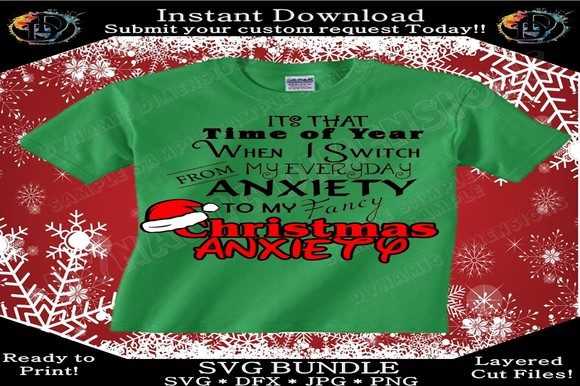Download Free Christmas Anxiety Graphic By Dynamicdimensions Creative Fabrica for Cricut Explore, Silhouette and other cutting machines.