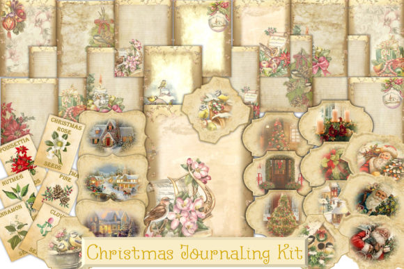 Print on Demand: Christmas Backgrounds with Tags Graphic Crafts By The Paper Princess