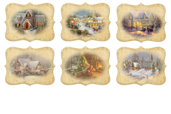 Christmas Backgrounds with Tags Graphic By The Paper Princess Image 7