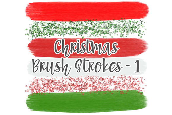 Print on Demand: Christmas Brush Stroke Set 1 Graphic Illustrations By boecustomdesign