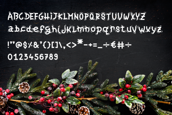 Christmas Candy Font By duka Image 6