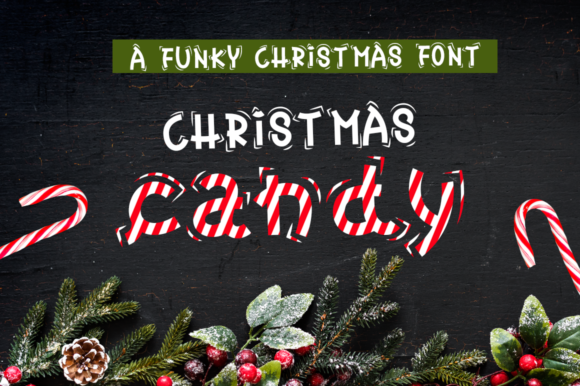 Christmas Candy Font By duka Image 1